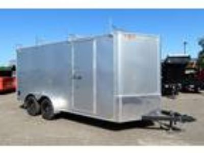 "2019 H&H 7x16TA Enclosed 6'6"" Int Cargo - Silver"