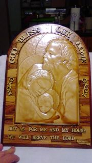 Resin God bless our home sign with wooden frame and letters. Very pretty