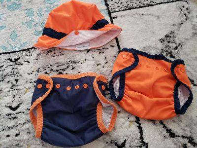 Hat and swim diapers