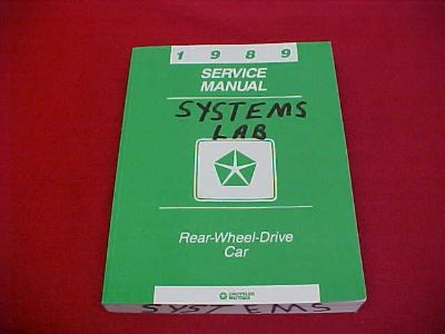 Find 1989 FIFTH AVENUE NEWPORT DIPLOMAT GRAN FURY SERVICE SHOP REPAIR MANUAL 89 OEM motorcycle in Leo, Indiana, US, for US $11.99