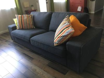 Couch (removable covers, 2 years old) Anthracite