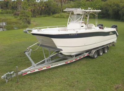 2008 2660 ProKat catamaran with suzuki 225's /400 hrs & new triaxle trailer