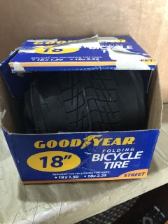 Goodyear folding bicycle tire. Box is beat up.