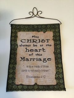 Marriage Scripture Tapestry Wall Hanging