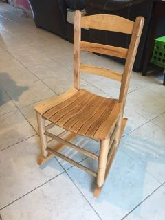 Kids Solid Wood Rocking Chair