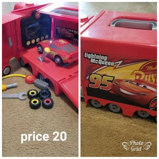 Cars garage and truck