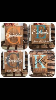 Wood name signs. Great Christmas gifts!! $12each or 2+ for $10each