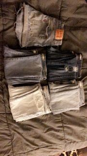 Levi jeans and shorts