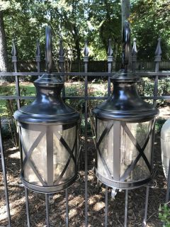 2 large 4-light outdoor porch wall lanterns. Need rewired