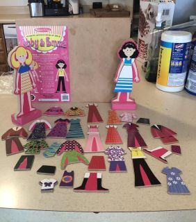 Abby and Emma magnetic dolls