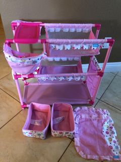 Double changing table for dolls