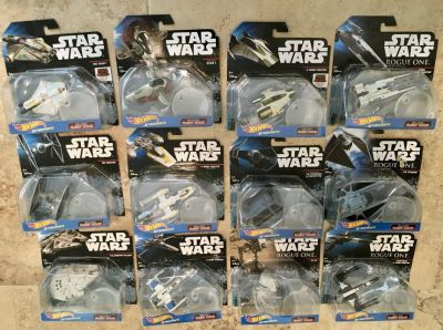13 Hot Wheels Star Wars Starships New/Sealed