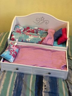 American Girl Doll Day Bed and Trundle