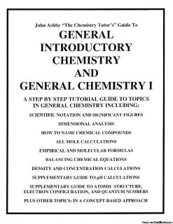 Chemistry Tutorial Workbook (New)