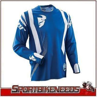 Find Thor Vented Core Blue White Jersey New Large LG motorcycle in Granger, Indiana, US, for US $49.95