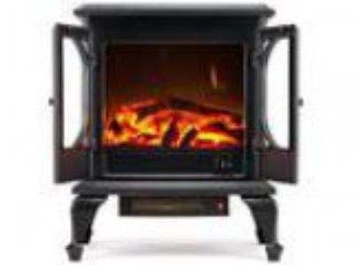 Townsend Free Standing Electric Fireplace Stove - Inch Black