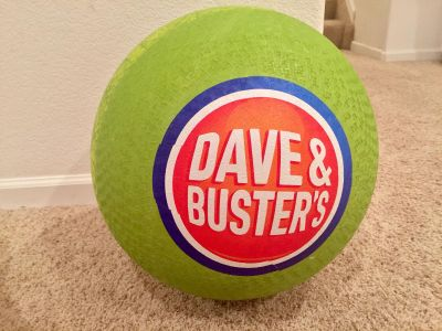 Dave & Busters Bounce and kick ball