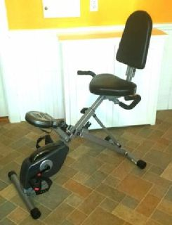 Space-Saver Semi-Recumbent Exercise Bike