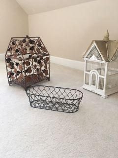 Decorative Bird cages and wire planter