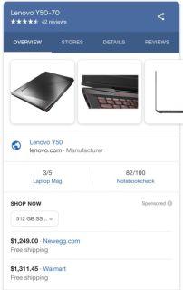 Lenovo gaming laptop y50-70