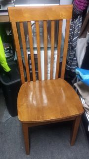 Chairs oak finish