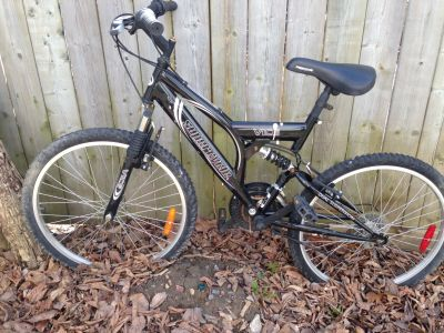 "24"" Full suspension mountain bike"