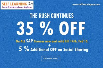 Learn SAP Course @ 40 % OFF now on ALL Courses