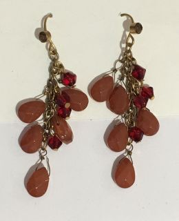 Vintage Faceted Stone Earrings