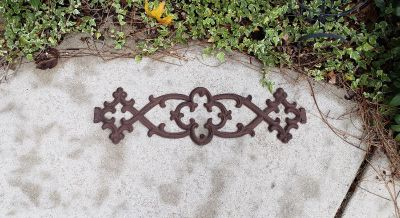 """Southern Living at Home Rustic Wrought Iron Wall Decor. 24.75"""" L x 7"""" W. Weighs 5 lbs Approximately. Can Hang Vertical or Horizontal."""