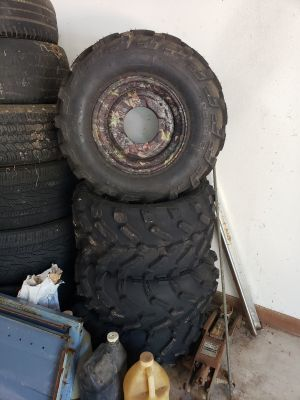 Polaris Browning edition 4 wheeler tires.