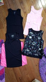Girls size 10 (4) Justice tank tops