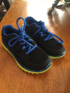 Boys size 1: used only as an extra pair of gym shoes at school. Champion brand