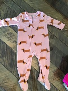 Carters Doxie Sleep Onesie, 12 mo