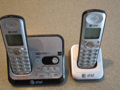 Two ATt&T Cordless Home Phones plus Answering Machine