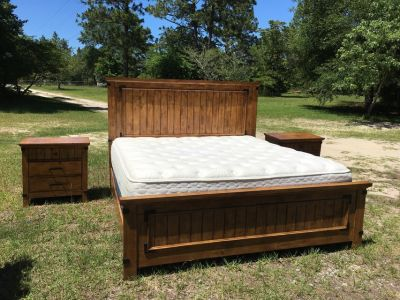KING SIZE BEDROOM SUITE w/ MATTRESS & BOXSPRINGS