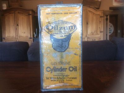 Oilzum 1 gallon cylinder oil can