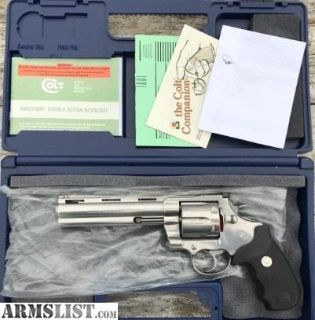 """For Sale: Colt ANACONDA .45 COLT 6"""" PORTED STAINLESS Boxed"""