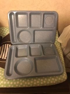 Set of 4 melamine cafeteria trays Pick up at McCalla Target on Thursday s from 5:15 till 6. Cp.