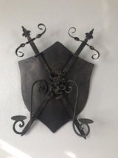 Shield Candle Holder