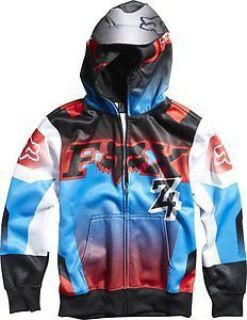 Purchase Fox Racing Imperial Youth Boys Zip Up Hoody Black/Blue LG motorcycle in Holland, Michigan, United States, for US $26.85