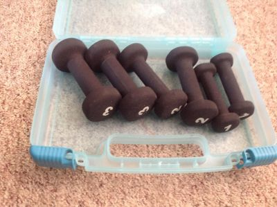 1-2-3lb weights with storage case