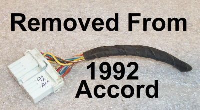 Buy 1992 Honda Accord Radio Wire Harness Plug OEM Factory Wiring Dash motorcycle in East Bridgewater, Massachusetts, US, for US $9.99