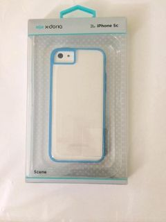 Iphone 5s & 5c Phone Case (Clear & Blue)