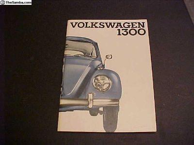 NOS 1966 Eurpean Bug owners manual