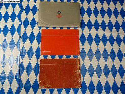 1985 Vanagon owners manual