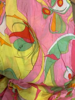 Vintage Pink Yellow Pattern Cotton Fabric
