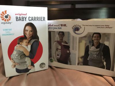 Ergo baby carrier with infant insert