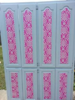 Extra Large storage closet all wood pink shabby chic