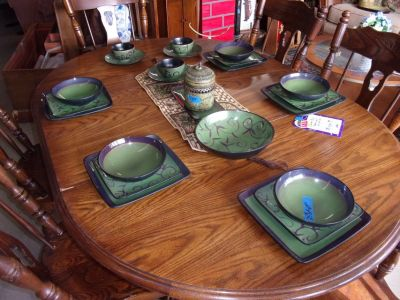 Four Place Setting of Dishes