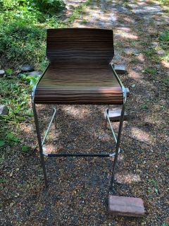 Bent Wood and Chrome Stools